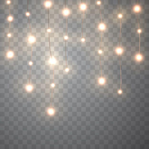 Christmas lights. vector glowing garland... | Free Vector #Freepik #freevector #background #christmas #design #light