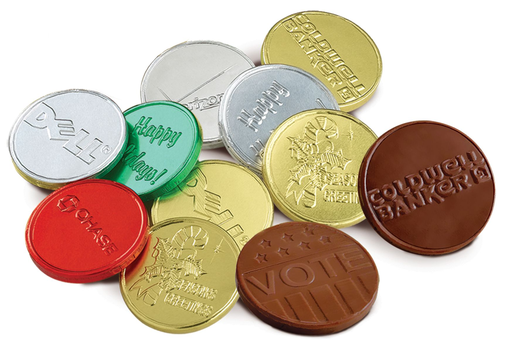 Bulk premium belgian chocolate embossed coins 15