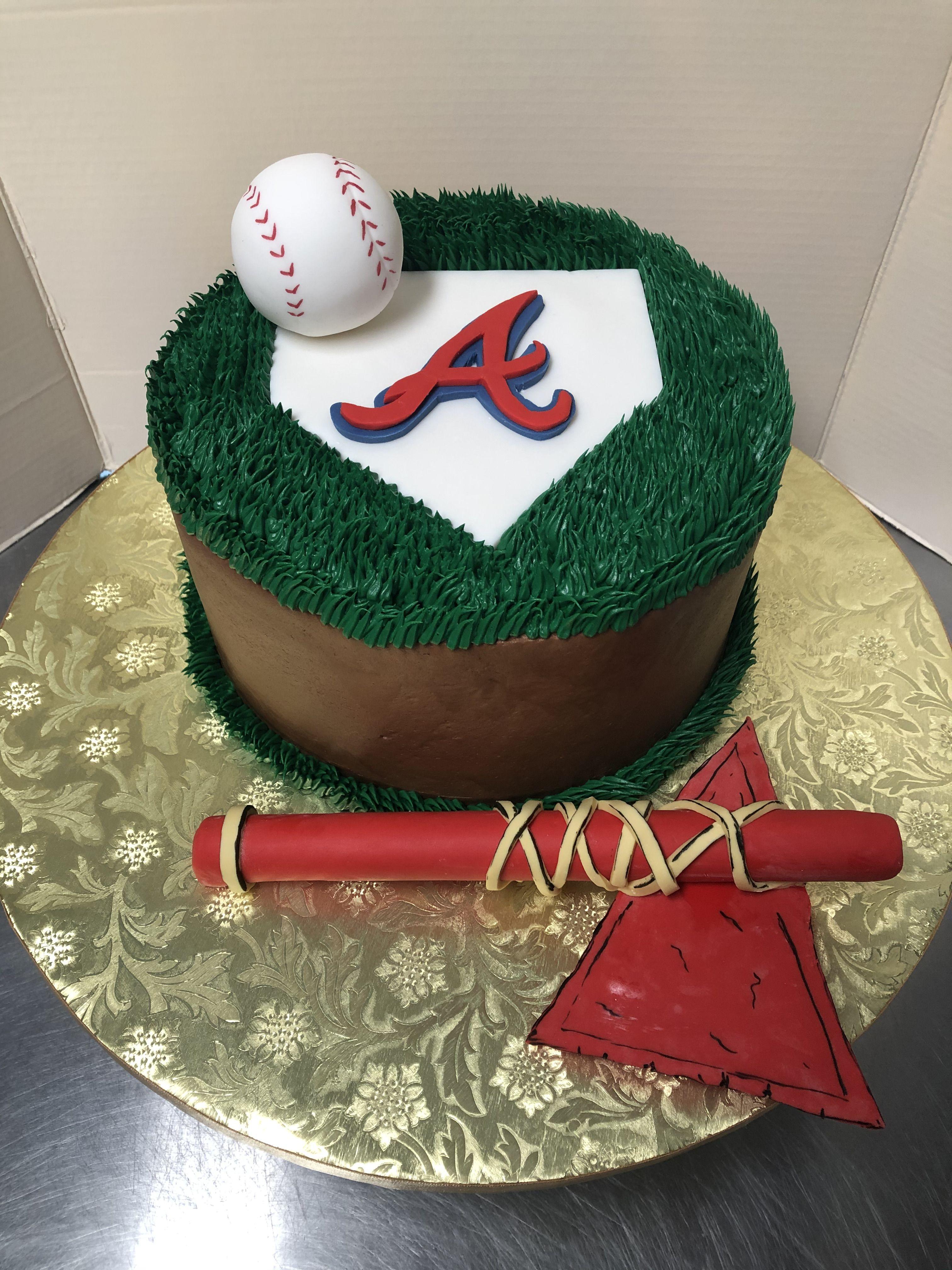 Atlanta Braves Theme Groom S Cake Birthday Cake In 2020 Grooms Cake Alessi Bakery Cake