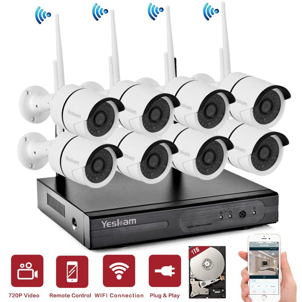 Yeskam Security System 8 Channel 960p Network Recorder And