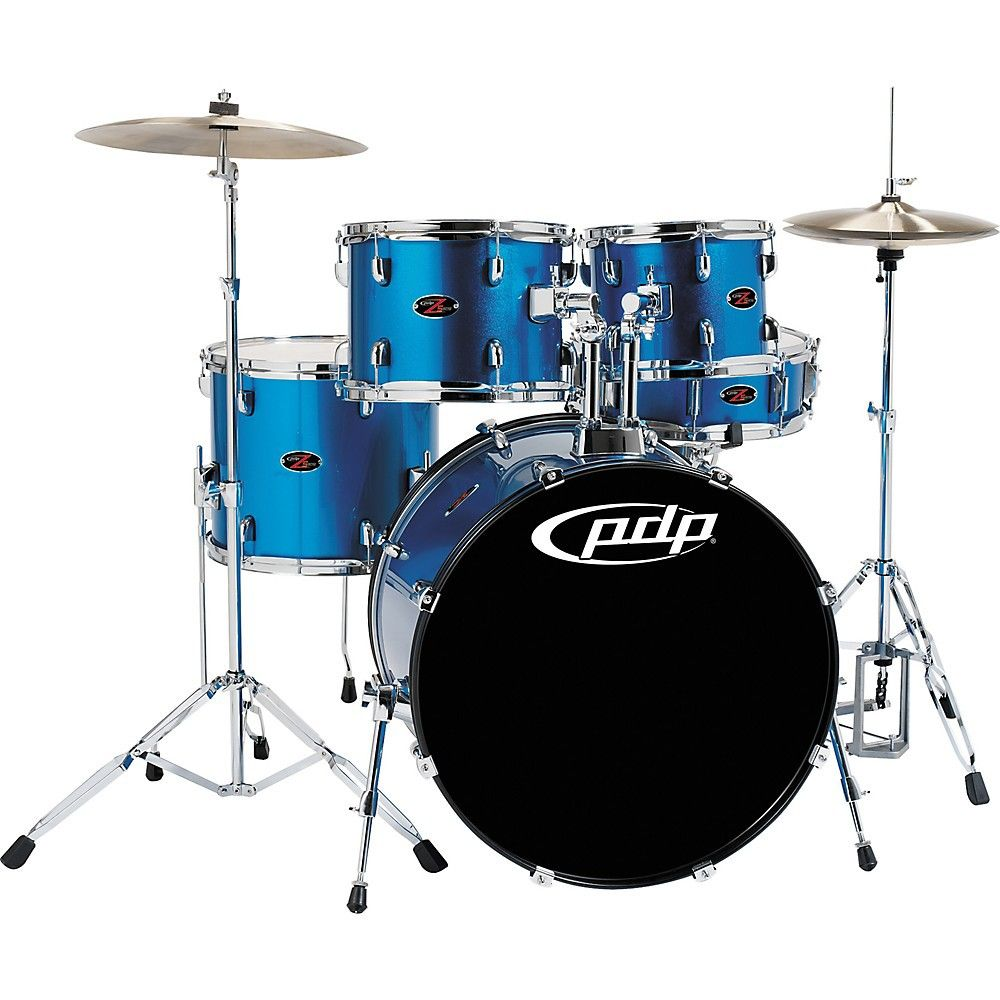 Pdp By Dw Z5 5 Piece Shell Pack Aqua Blue Drums Pacific Drums