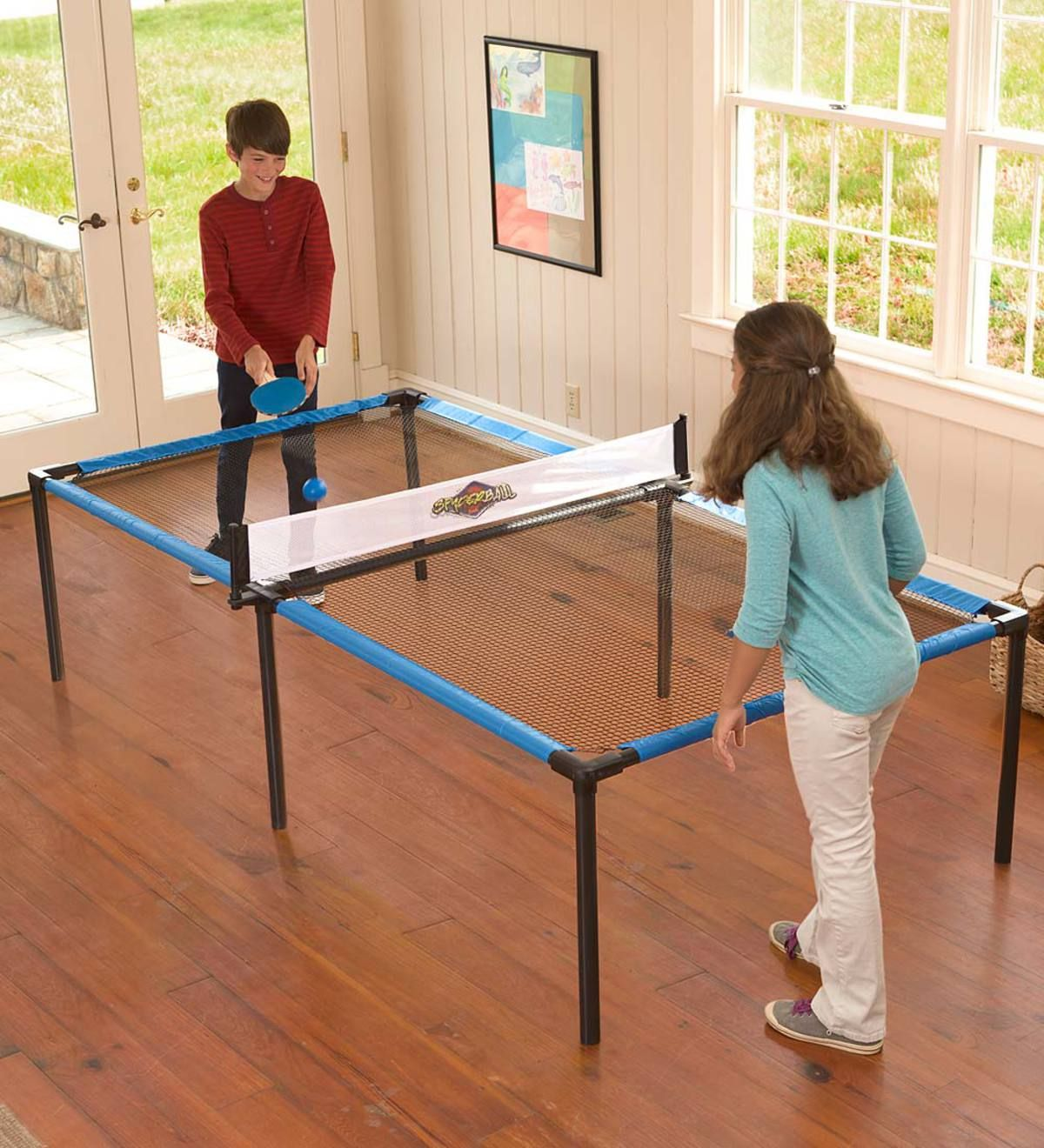 The Net Effect Of This Revolutionary New Development In Tabletop Ball Games Is Twice The Bounce Three Times T Indoor Games For Kids Games For Kids Indoor Play