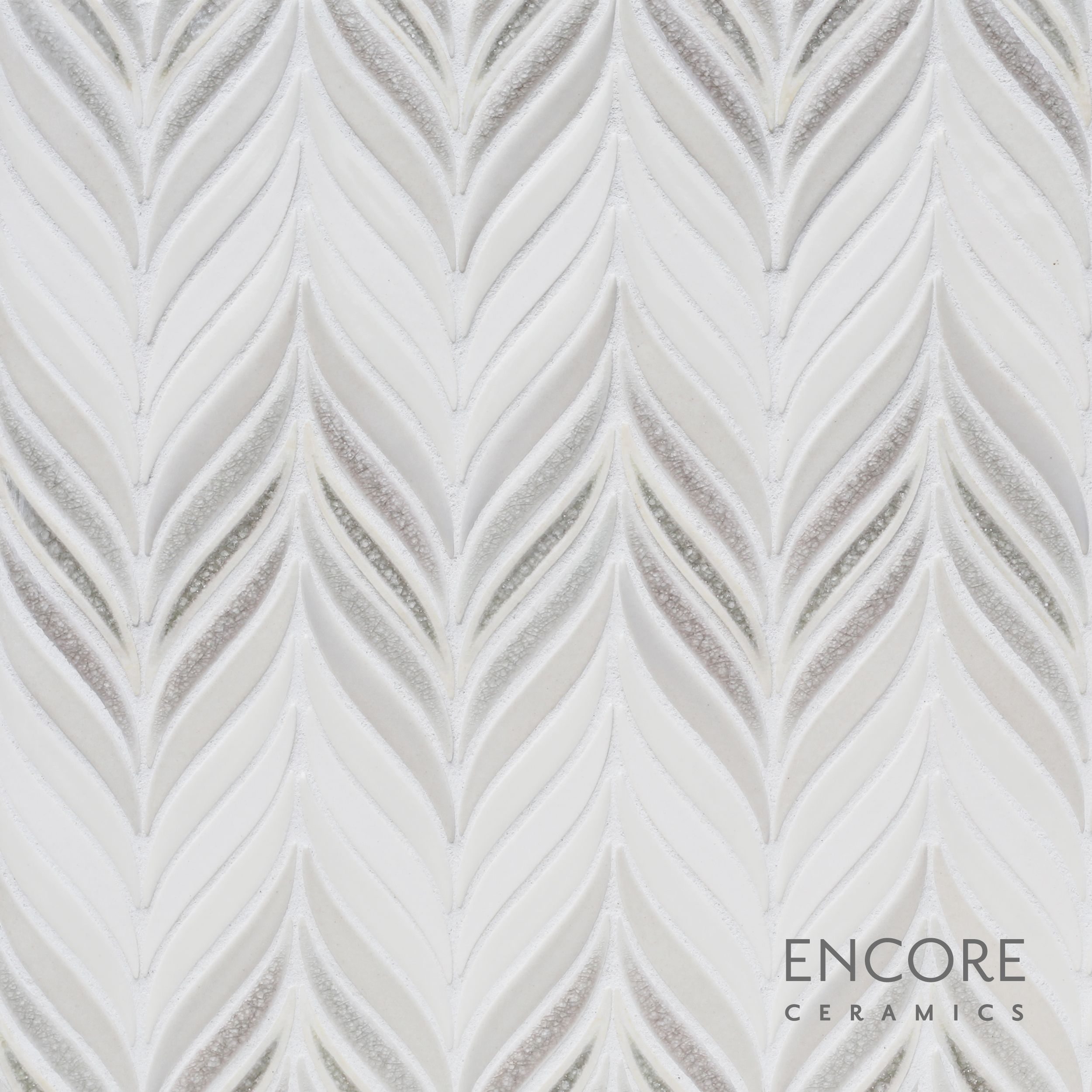 Encore ceramics feather mosaic shown in the small ombre pattern in encore ceramics feather mosaic shown in the small ombre pattern in bianca matte brie dailygadgetfo Images