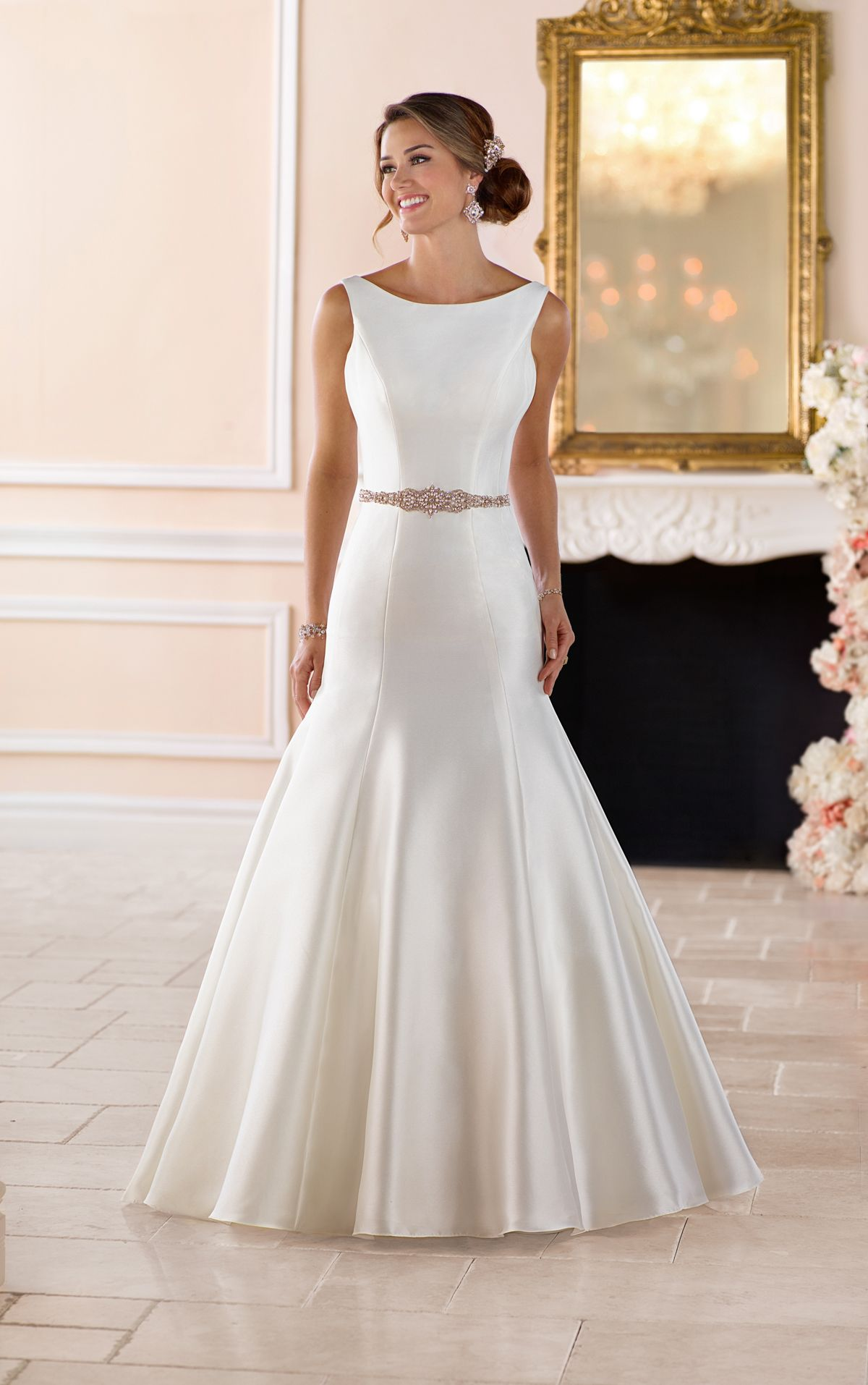 Boat neck wedding dress with deep v back boat neck wedding dress boat neck wedding dress with deep v back ombrellifo Choice Image