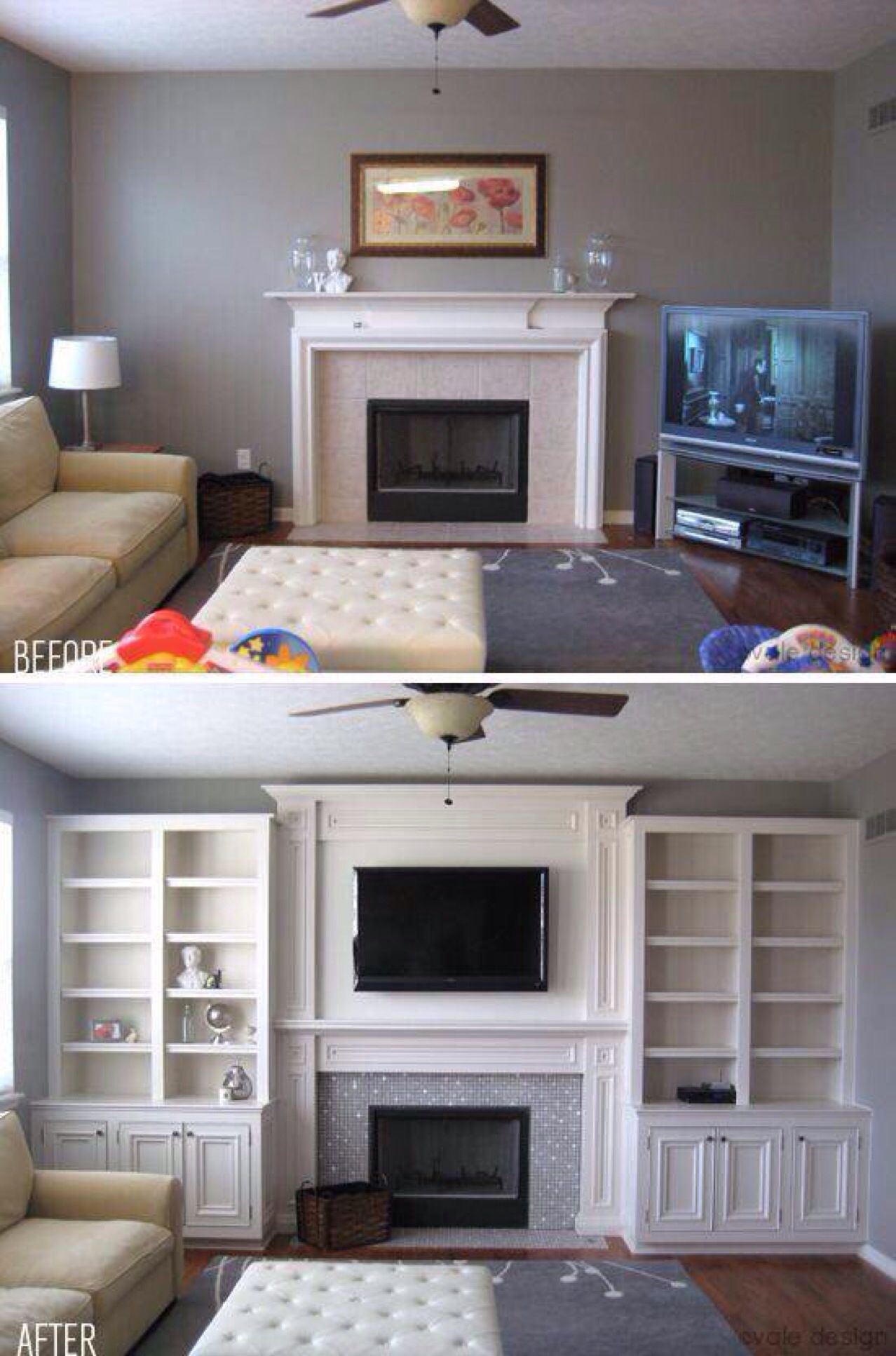Living Room Make Over Before And After  Future Home  Pinterest Amazing Living Room Make Over Design Inspiration