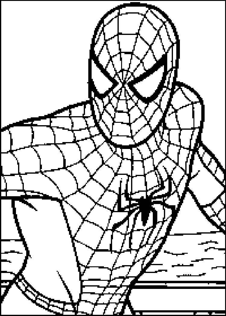 Spiderman 4 coloring pages coloring pages superheroes for Spiderman coloring page printable