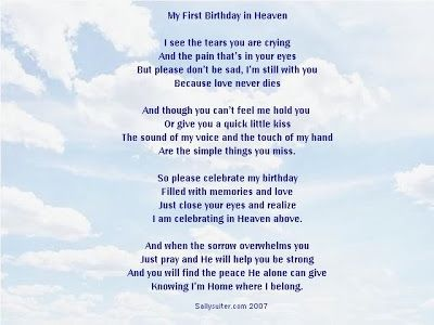 11 First Birthday In Heaven Quotes Ruby Quote