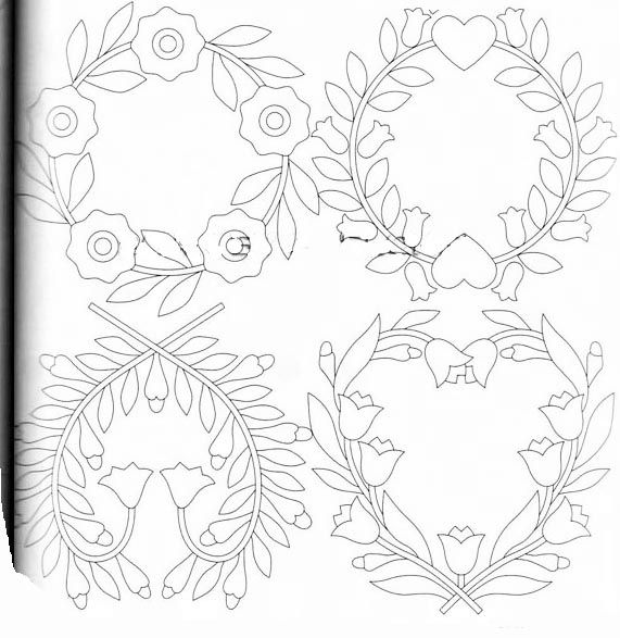 Quilts: Baltimore Album … | applique templates | Bordado, Patrones ...