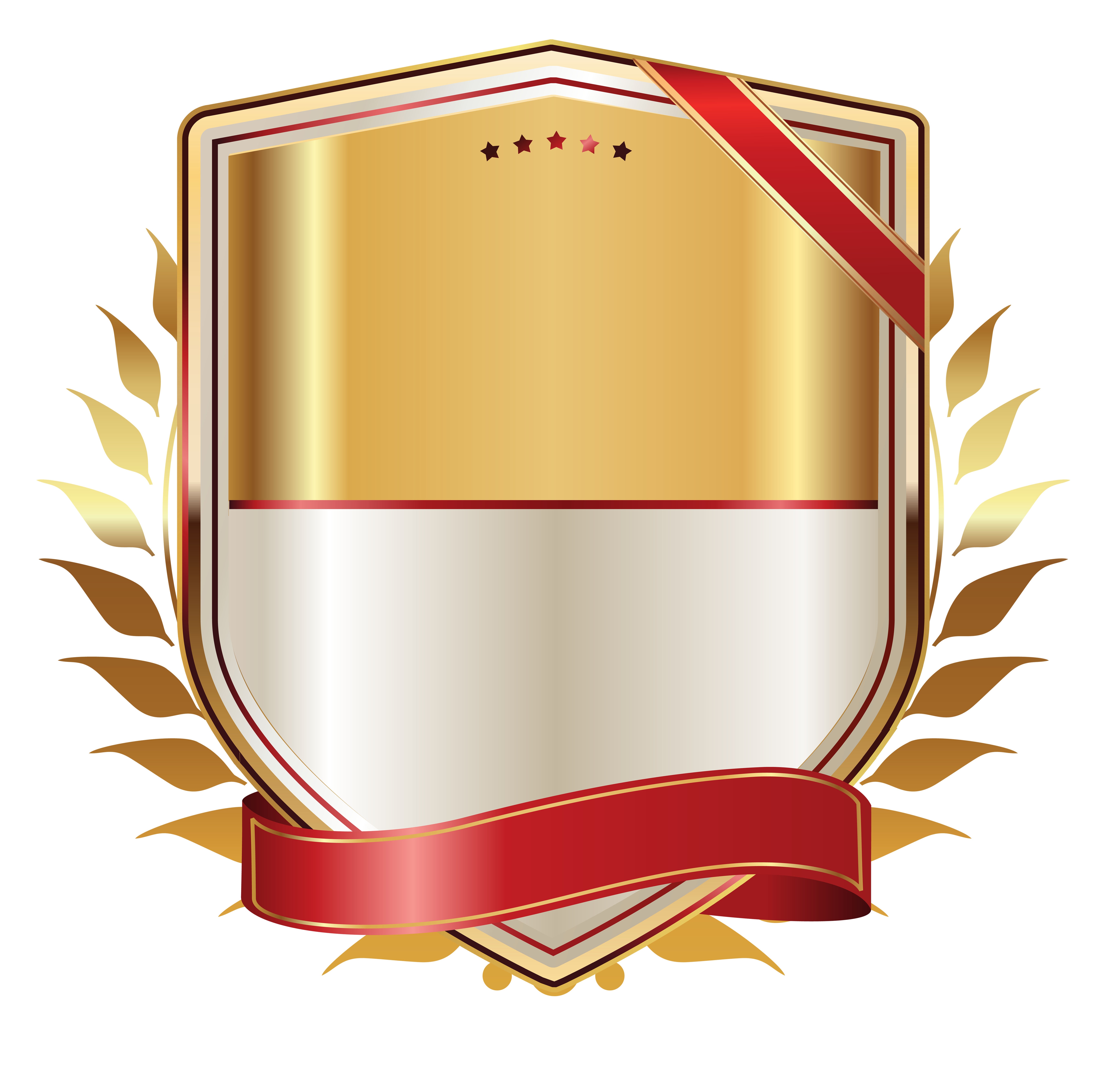 Golden Label With Gold Ribbon Png Clipart Image Vectores