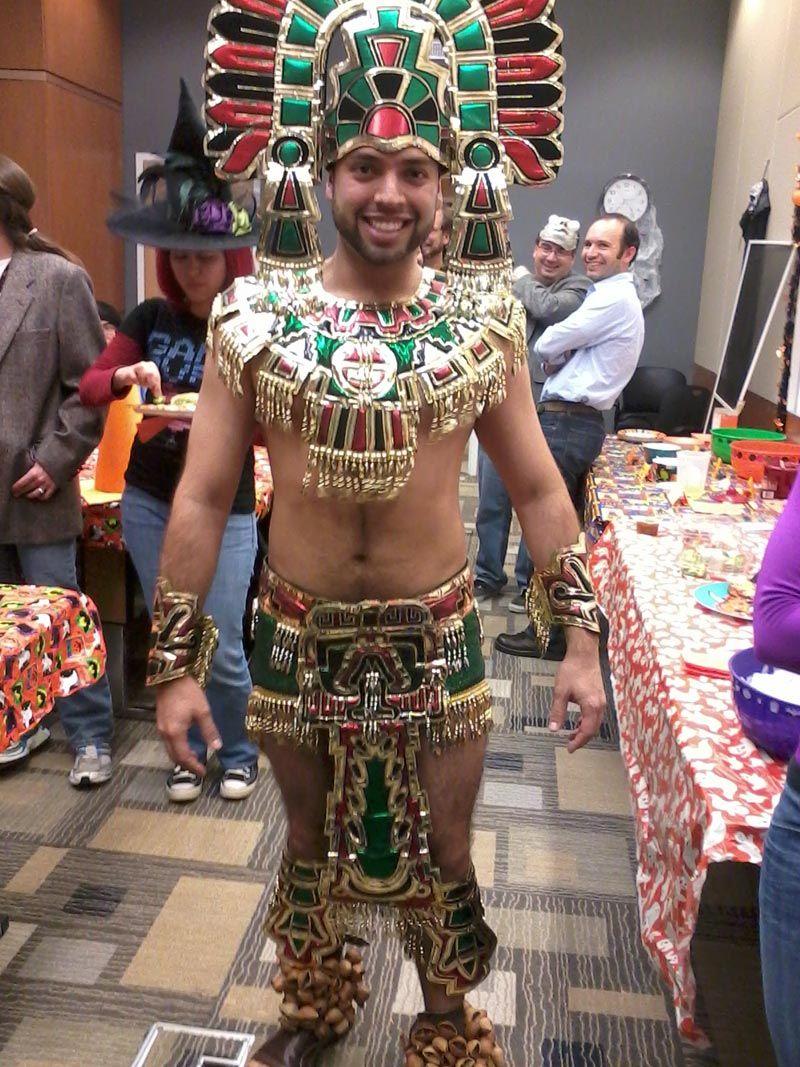 Indian aztec costume woman showgirl aztec
