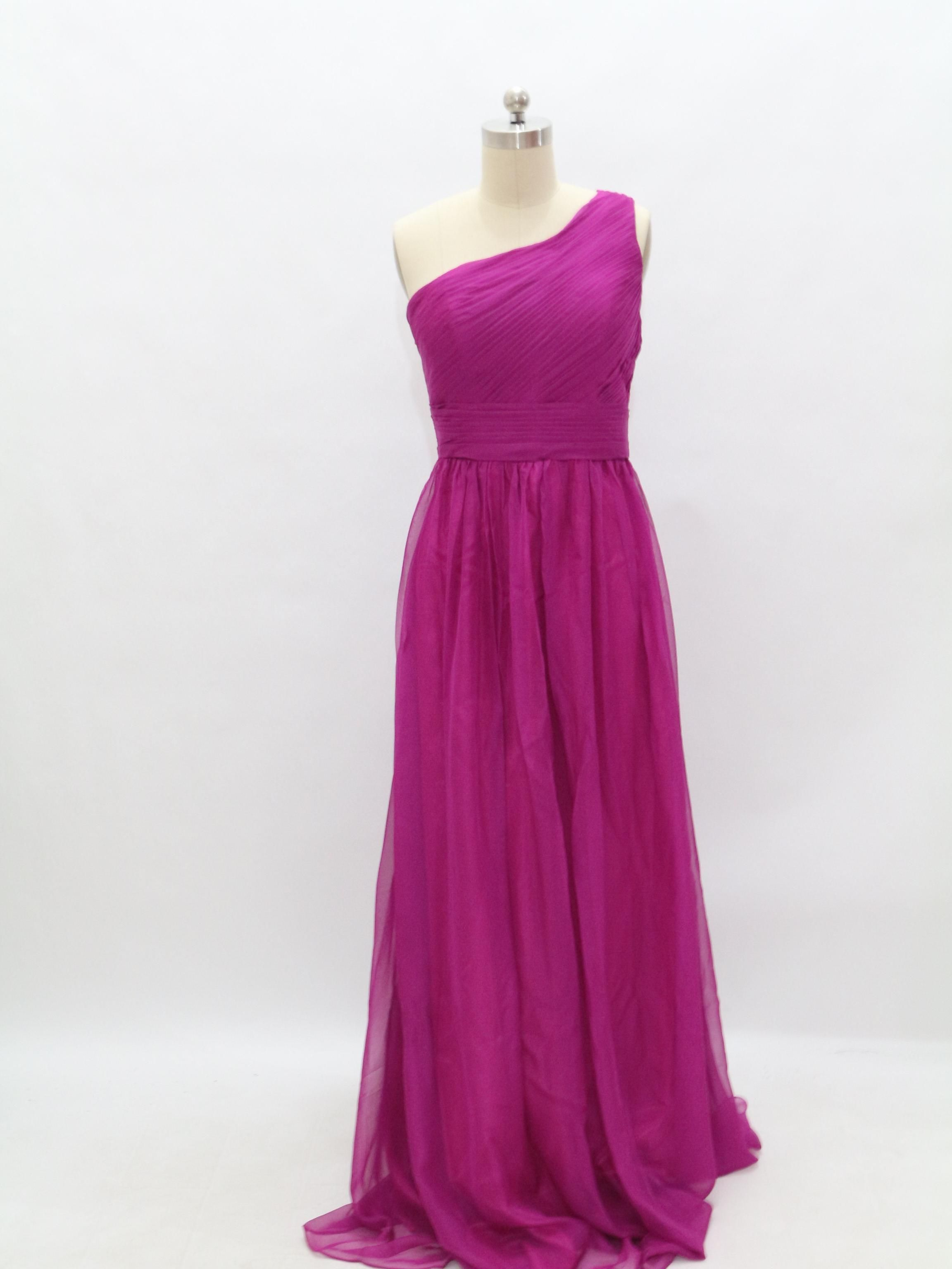 Cheap Bridesmaid Dresses - Discount Charming Sexy One Shoulder Chiffon Prom Dresses 2014 Online with $82.73/Piece | DHgate