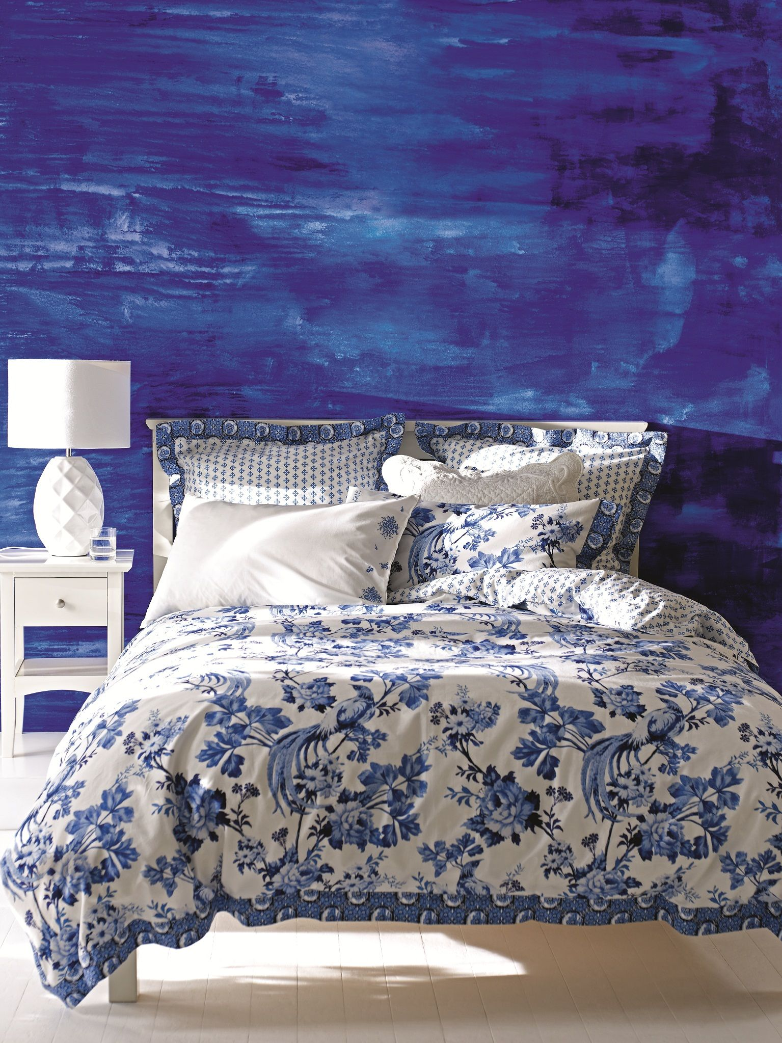 add stylish blue bedding set as an easy way to shake up the d cor of rh pinterest com