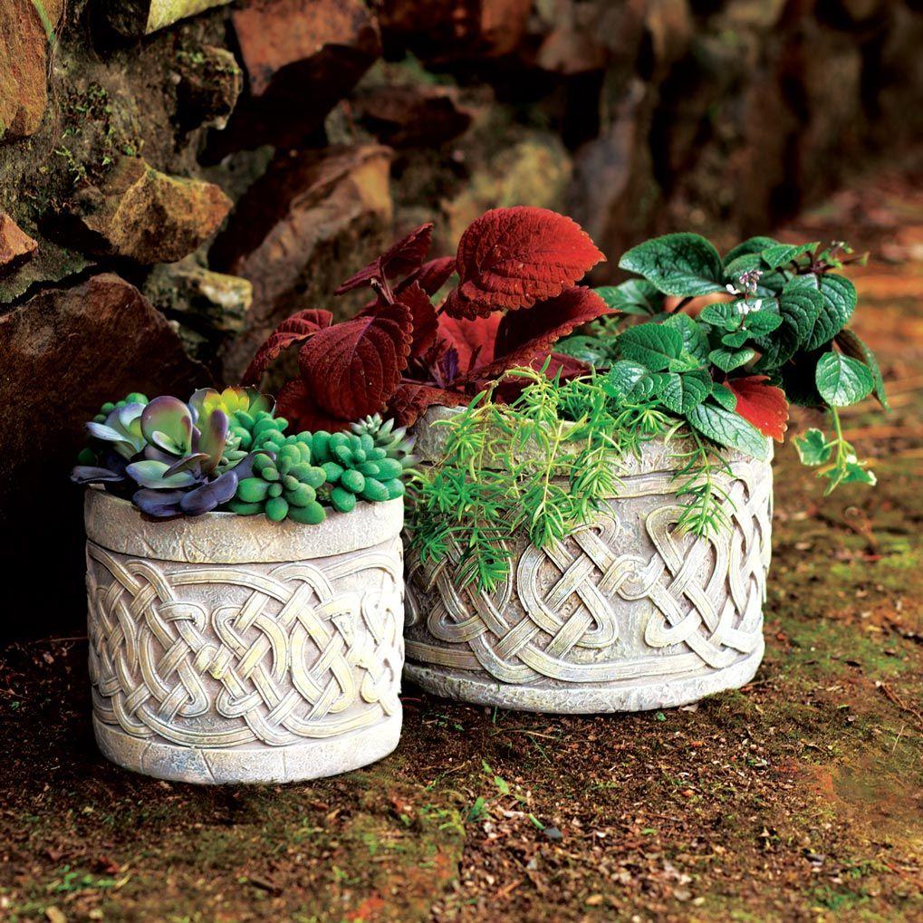Celtic Planters Irish garden, Planters, Creative gardening