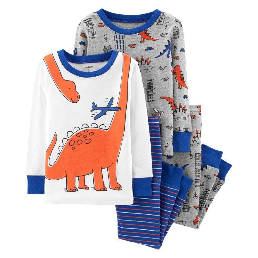 d06771e7a Baby Boy Carter s Dinosaur Tops   Bottoms Pajama Set