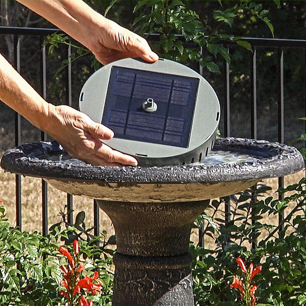 Solar birdbath fountain kit national garden bureau in