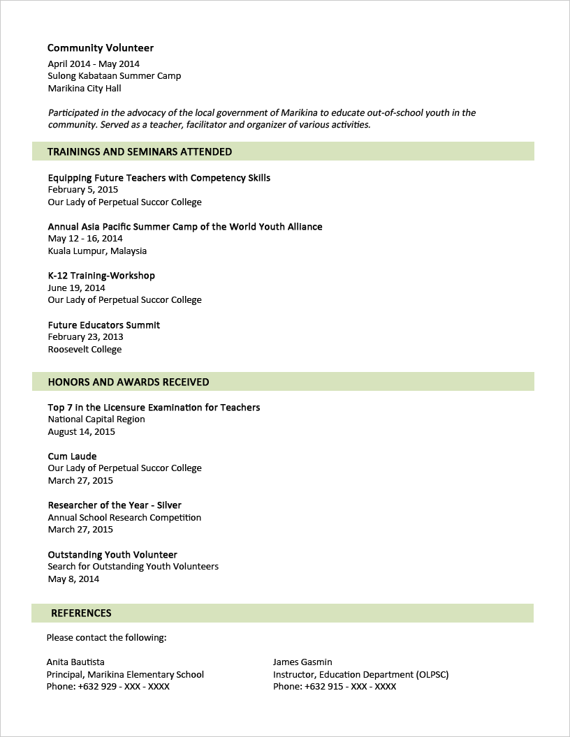 P G Resume Format With Images Sample Resume Format Job Resume