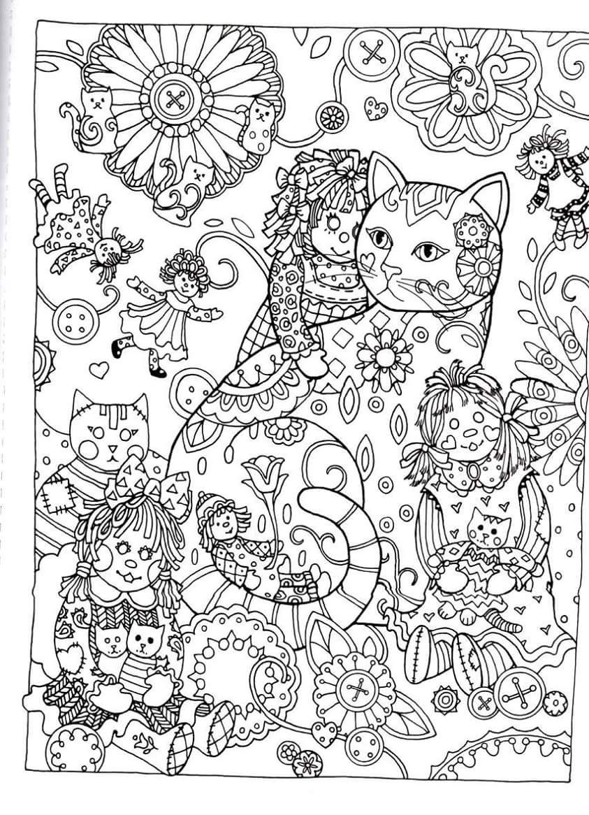 Flower drawings on pinterest dover publications coloring pages and - Creative Haven Creative Cats Dover Publications Coloring