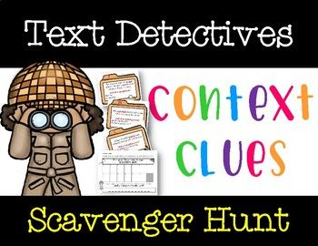 Text Detectives: Context Clues Scavenger Hunt Game (FREE Video in