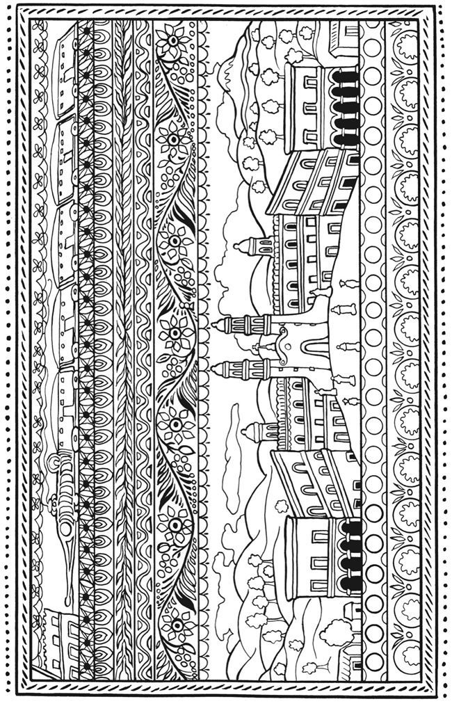 Colour Me Calm Pages Pesquisa Do Google Coloring For S Creative Haven Mexican Folk Art Book Dover Publications