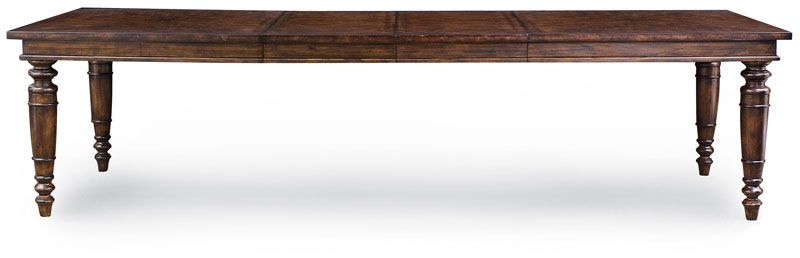 Astounding Bernhardt 334 222 Commonwealth Dining Table With Turned Leg Interior Design Ideas Philsoteloinfo