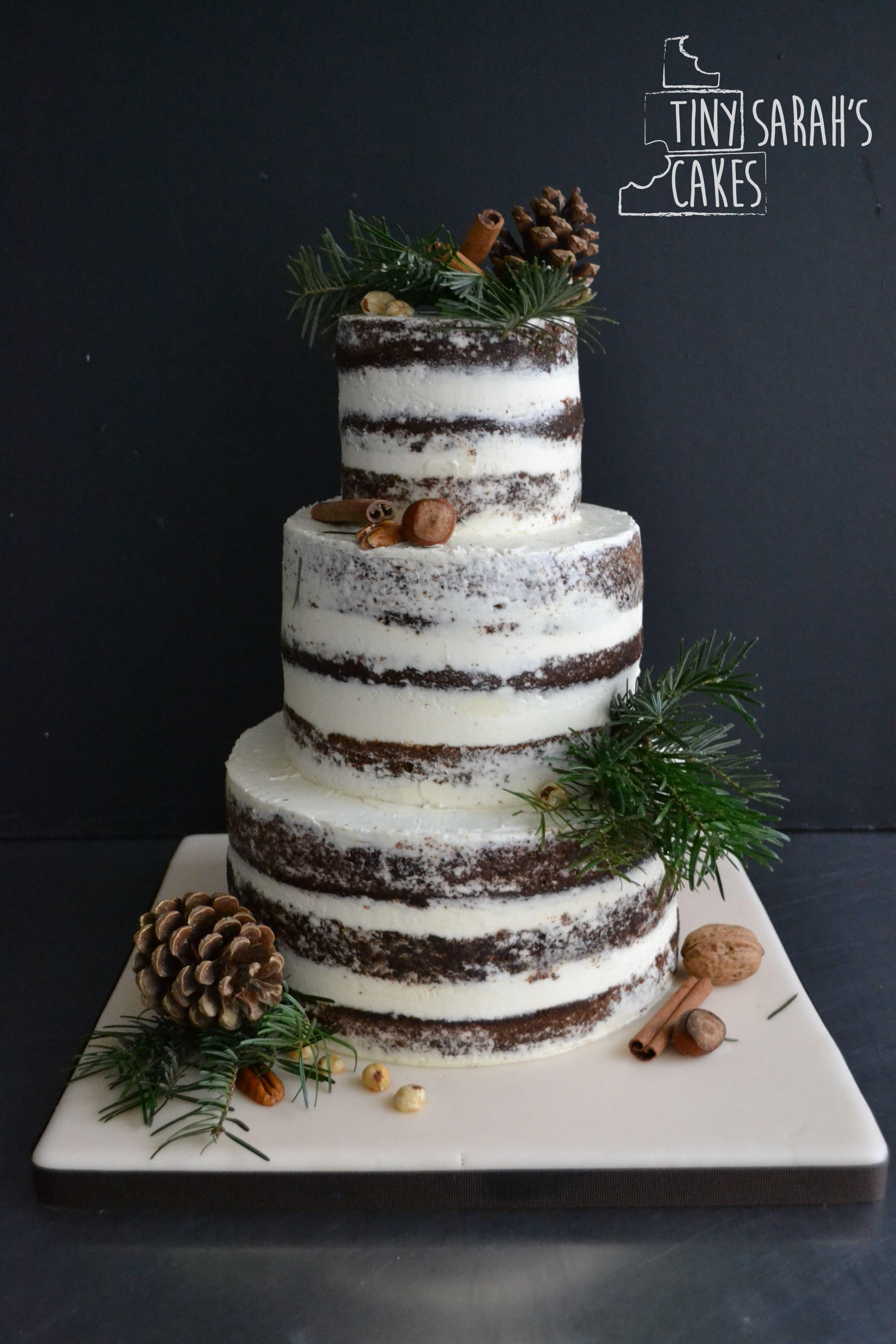 Pretty Weddings Winter Wedding Cake Christmas Wedding Cakes