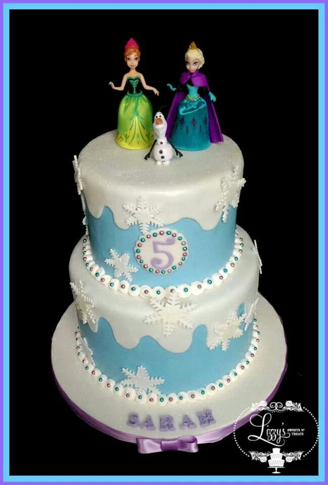 Frozen birthday cake Birthday cakes Girl Pinterest Frozen
