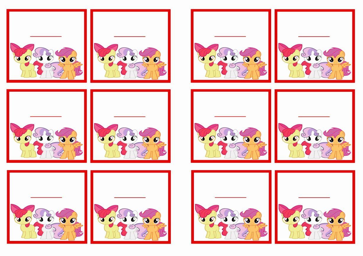 My Little Pony Birthday Name Tags My Little Pony Printables