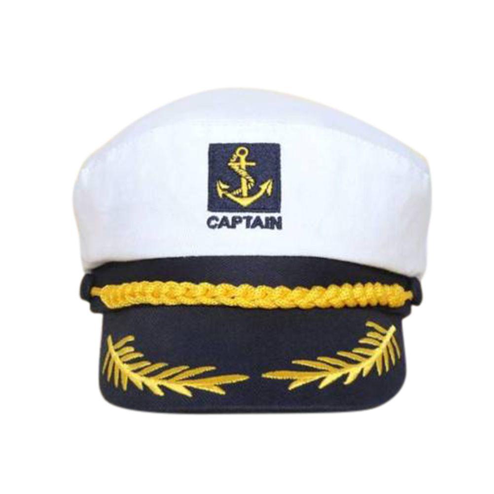 Adult Yacht Boat Captain Hat Navy Cap Ship Sailor Costume Party Fancy Dress  Hot 2a76a3908087