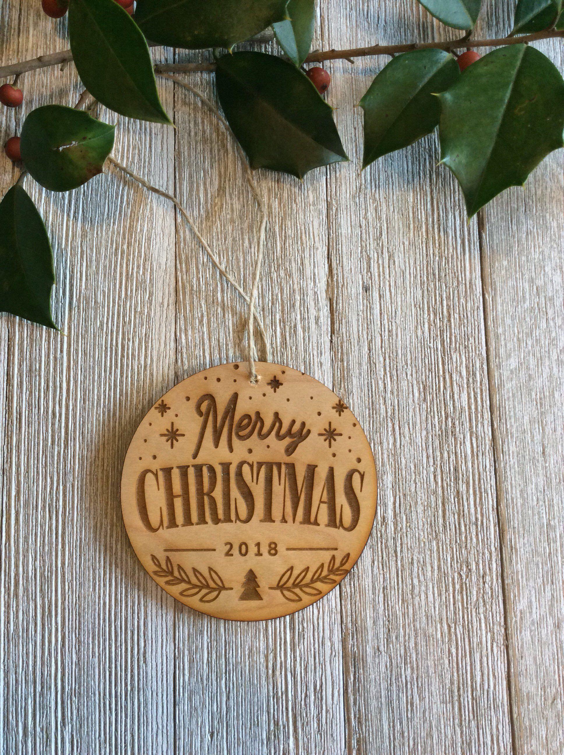 Wood Christmas Ornament Wood Tag Gift Tag Ornament Wood Engraved Gifts Wood Christmas Ornaments Engraved Christmas Ornaments