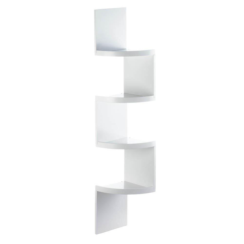 Zig Zag Corner Shelves 4 Shelf Black In 2020 Corner Shelves Corner Storage Shelves Shelves