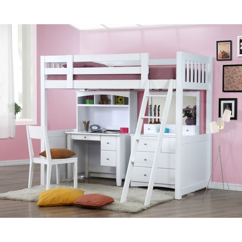 My Design Bunk Bed K Single W Desk Hutch Dressing Table