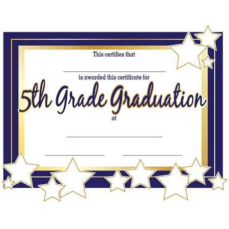 5th Grade Graduation Certificates 5th Grade Graduation Pinterest