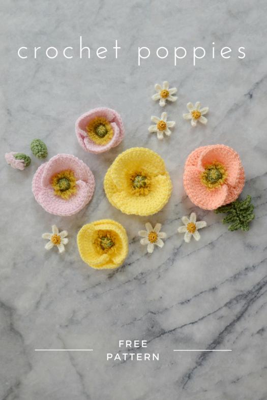Iceland Poppy Pattern | Pinterest | Amapola de ganchillo, Coronas de ...