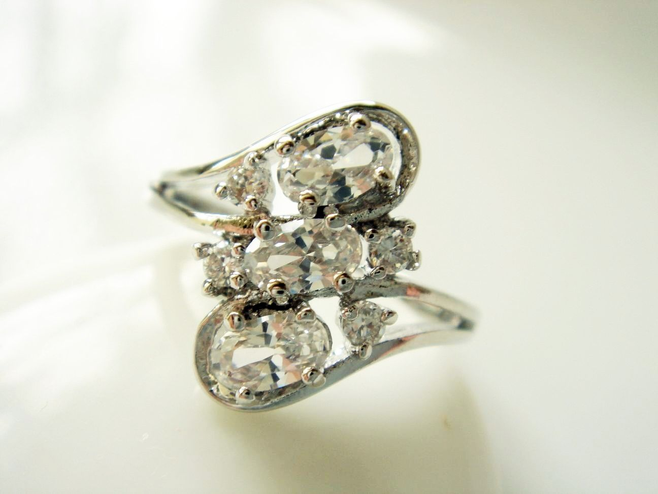 Butterfly Dazzling Cubic Zircon Silver Ring