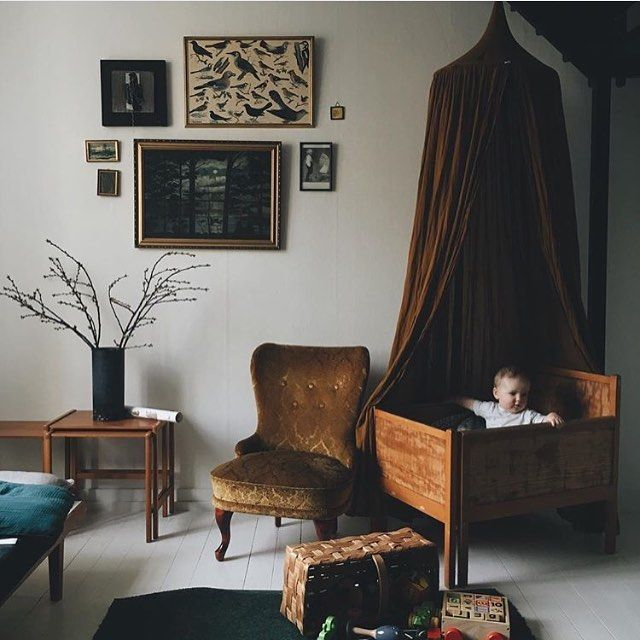 Inspired by this eclectic mix of vintage treasures plus the beautiful baby! Regram by @babes_in_boyland #RSGLoves #inspiration #vintagestyle #interiors #decor #baby