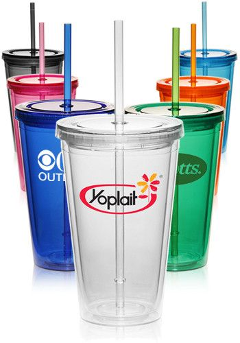 558186db192 Double Wall Acrylic Tumblers With Straws | PG161 at cheap prices. As low as  $2.31 per piece, Free Shipping & 24 hour rush available.