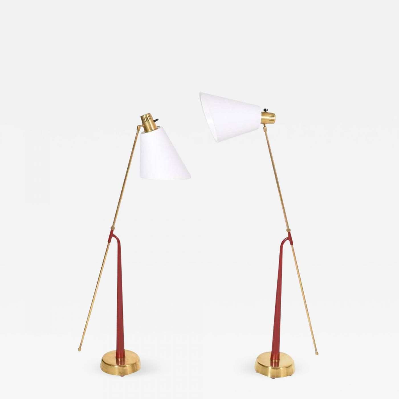 Pair of Floor Lamps by Hans Bergstrom for Ateljé Lyktan c 1950