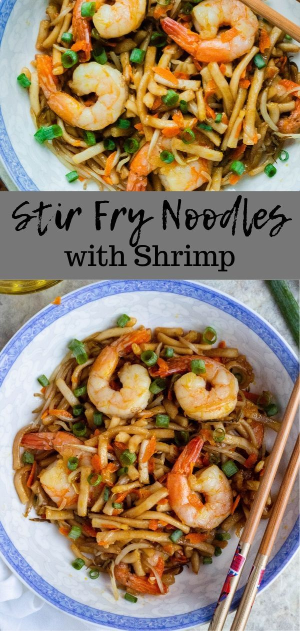 Shrimp Stir Fry with Noodles - The Foreign Fork