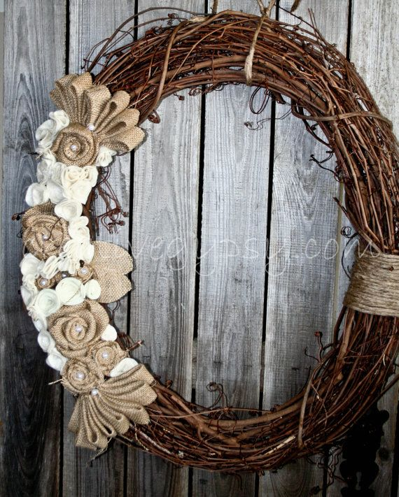 This Large 24 Inch In Diameter Wreath Is The Rustic Rancher Wreath