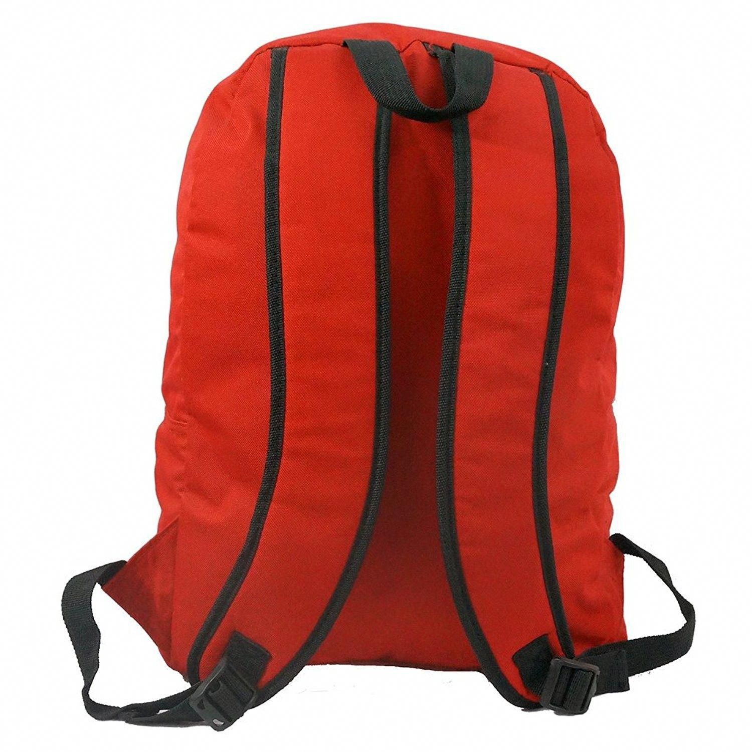 4ce1450e6868 Basic Emergency Survival Backpack Classic Simple School Book Bag Student  Daily Daypack 18 Inch - Red - CZ12CNZMW07 - Men s Bags