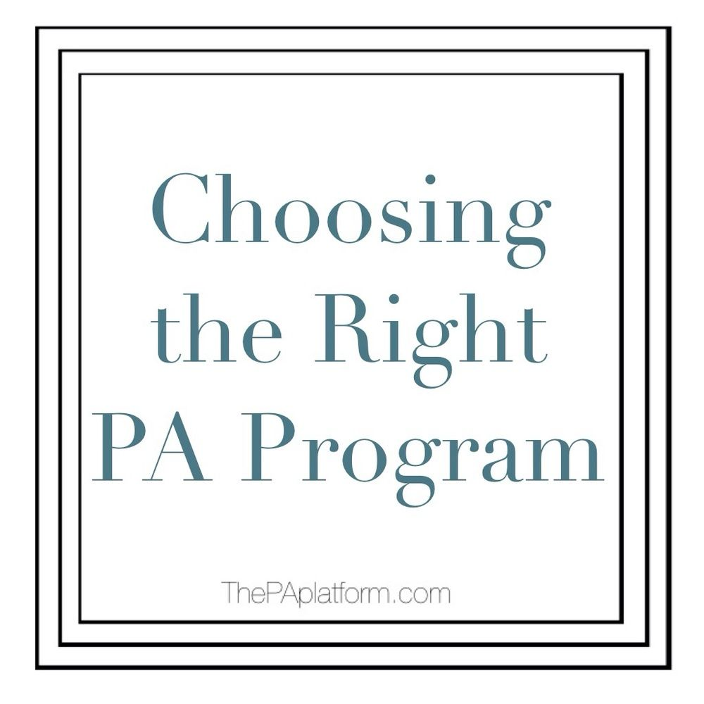 Choosing the Right PA Program | Career goals | Physician