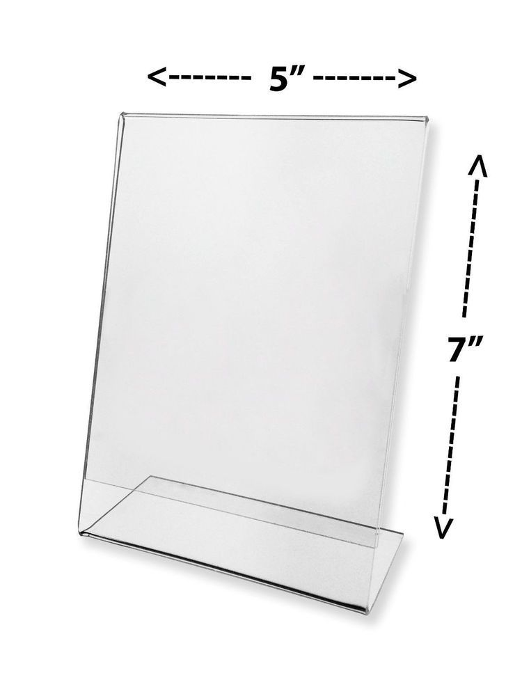 6 Clear Acrylic 5 X 7 Sign Display Holder Picture Frame Wholesale Sign Display Clear Picture Frames Postcard Holder