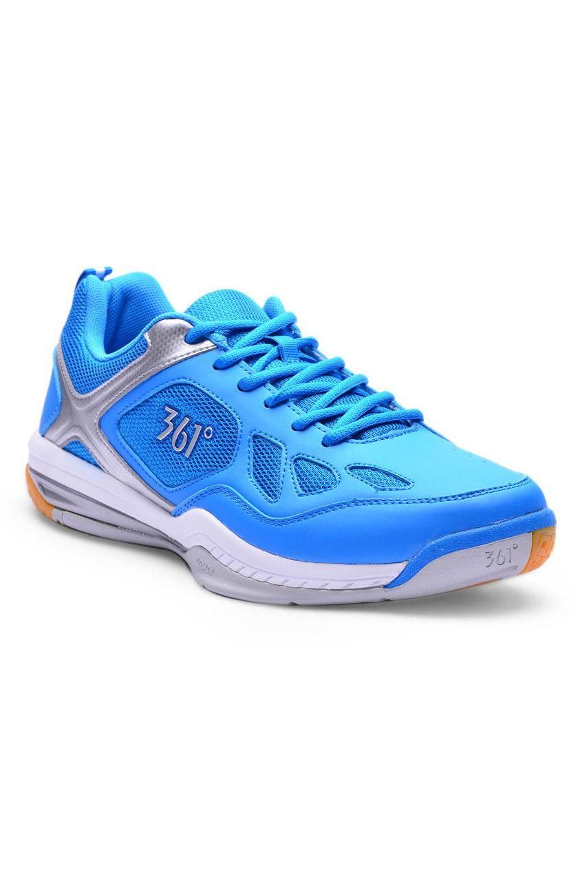 36b3e29d43c3 361 Degrees Sideback Badminton Shoes (Blue/Silver) | 361° Training ...