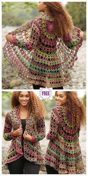 DIY Crochet Cardigan Sweater Free Patterns