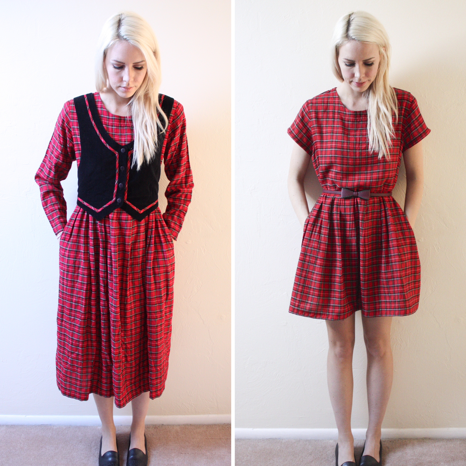 Upcycled Plaid Dress | Refashion clothes, Diy fashion ...