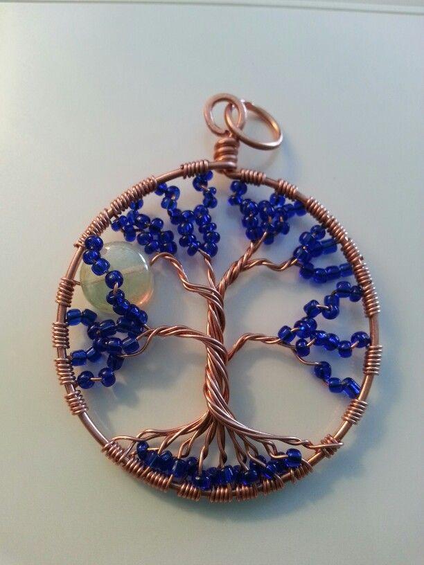 Cobalt Blue Tree of Life pendant by www.rapidanreflections. com