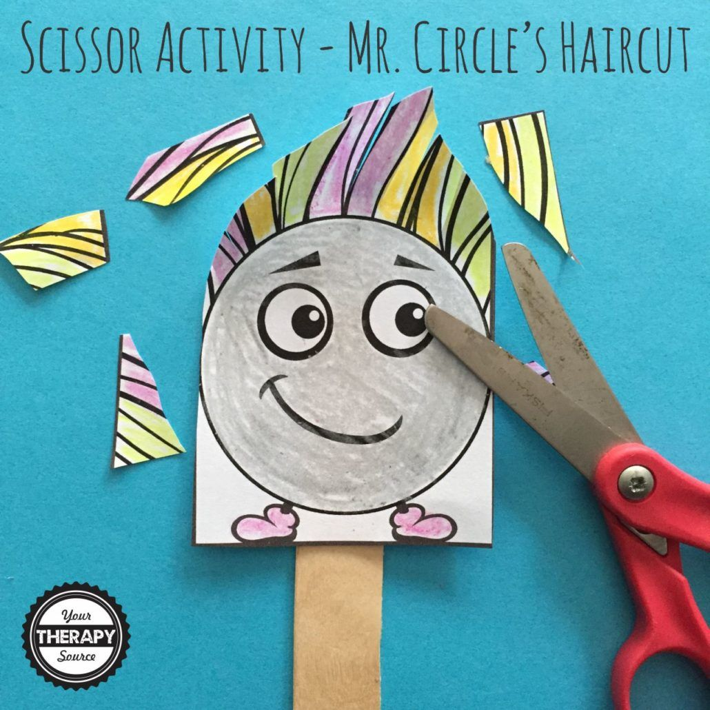 Mr Circle S Haircut Scissor Activity From Your Therapy