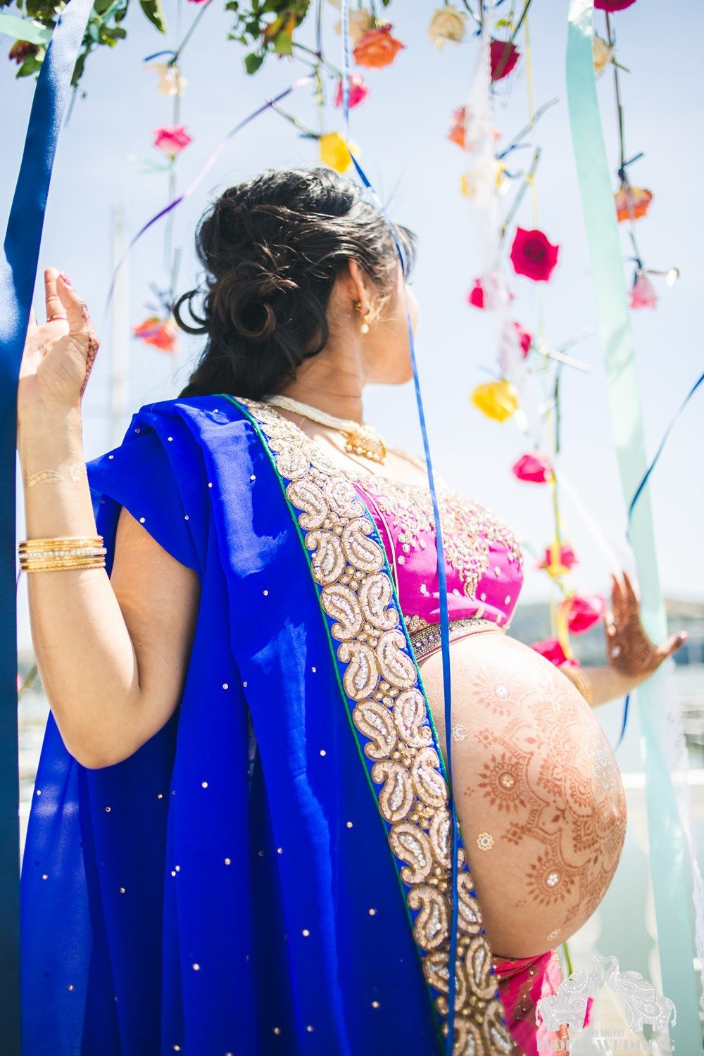 0ff788a09cc9c An Indian Inspired Maternity Photo Shoot | Baby | Pregnancy photos ...