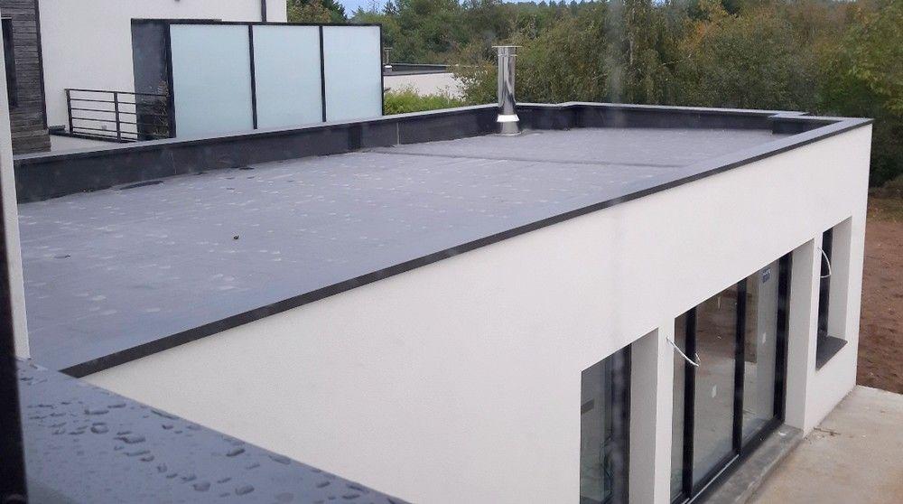 Etancheite De Toit Plat Membrane Epdm Ou Pvc Depreux Construction Toit Plat Etancheite Toit Plat Maison Cubique