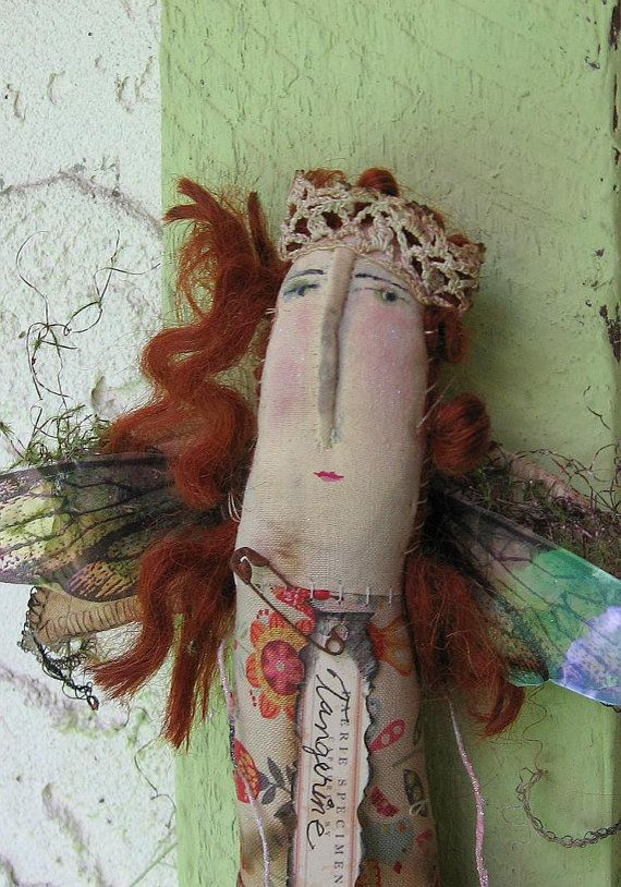 Tangerine Fairie by Baggaraggs on Etsy
